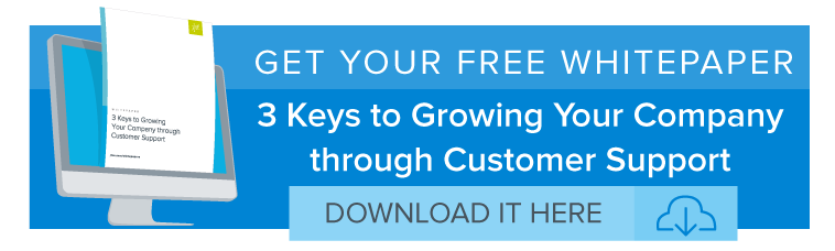 3 Keys to Growing Your Company through Customer Support Whitepaper Banner