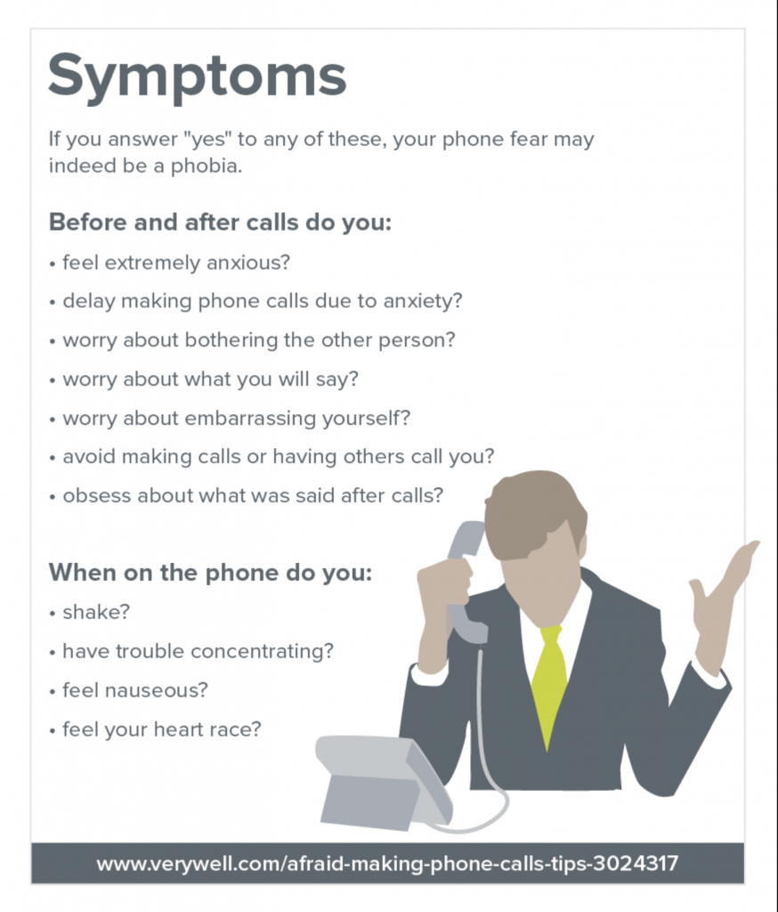 VeryWell Afraid of Making Phone Call Symptoms